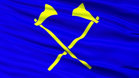 Saint Helier City Close Up Waving Flag - stock footage