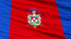 Quito City Close Up Waving Flag - motion graphic