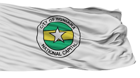 Honiara City Isolated Waving Flag - stock footage