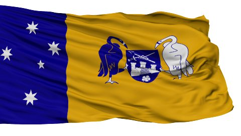 Canberra City Isolated Waving Flag - stock footage