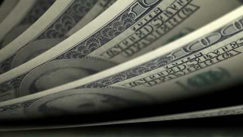 Cash counting. US Dollars (USD) banknotes. Easy to loop. - stock footage