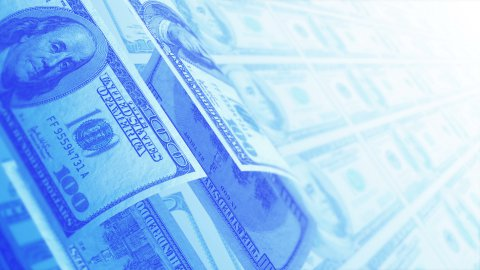 Flying US Dollars Business Background, LOOP. - stock footage