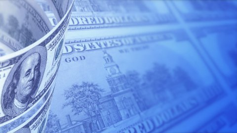 Dollars Looped Motion Money Background - stock footage