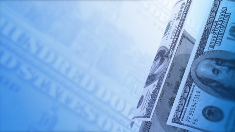 Cash Money Background Close-Up Rotation. 100 US Dollars LOOP. - stock footage