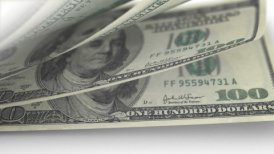 Cash Money Counting. US Dollars (USD) banknotes. Easy to loop. - motion graphic