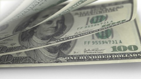 Cash Money Counting. US Dollars (USD) banknotes. Easy to loop. - stock footage