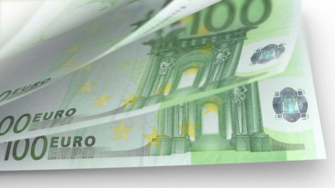 Cash Money Counting. Euro Banknotes. Easy to Loop. - stock footage