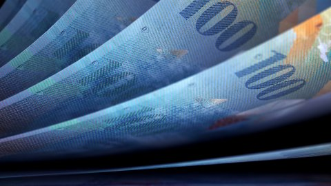 Cash Money Counting. Swiss Francs (CHF) Banknotes. Easy to Loop. - stock footage