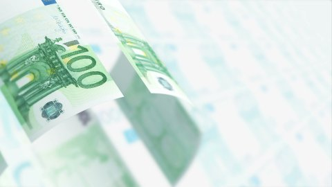 Flying Euros. Business Background, LOOP. - stock footage