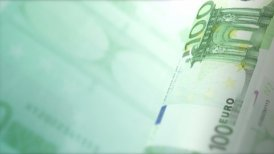 Cash Money Background Close-Up Rotation. 100 European Euros LOOP. - editable clip, motion graphic, stock footage