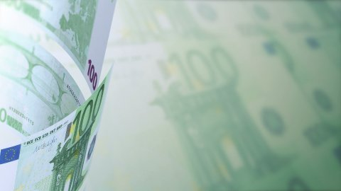 Euros Looped Motion Money Background - stock footage