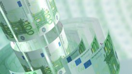 Euros Money Banknotes Rotating Background Loop.
