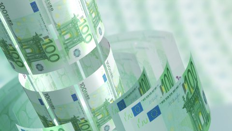 Euros Money Banknotes Rotating Background Loop. - stock footage