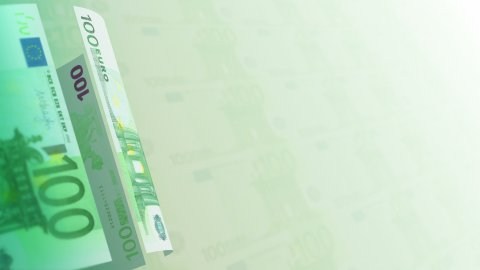 Euros Money Banknotes Rotating Video Background. Seamless Loop. - stock footage