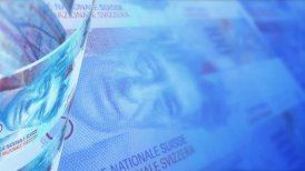 Swiss Francs Looped Motion Money Background - motion graphic