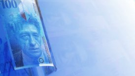 Swiss Francs Money Banknotes Rotating Video Background. Seamless Loop.