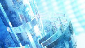 CHF Money Banknotes Rotating Background Loop. - motion graphic