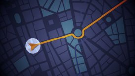 GPS Navigation, Localization. Seamless loop. 2D view. - motion graphic