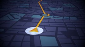 GPS Navigation - motion graphic
