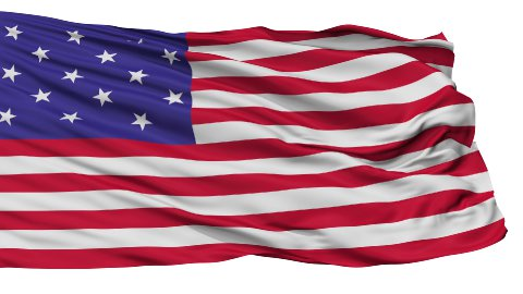 Star Spangled USA Isolated Waving Flag - stock footage