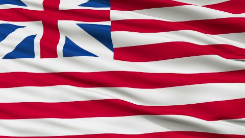 Grand Union USA Close Up Waving Flag - stock footage