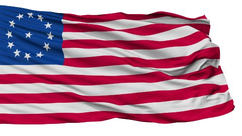 Cowpens USA Isolated Waving Flag - stock footage