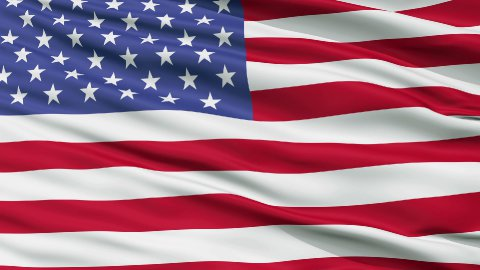 52 Star USA Close Up Waving Flag - stock footage