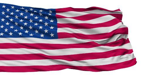 USA Isolated Waving Flag - stock footage