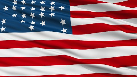Fort Sumter USA Close Up Waving Flag - stock footage