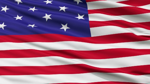 Star Spangled USA Close Up Waving Flag - stock footage