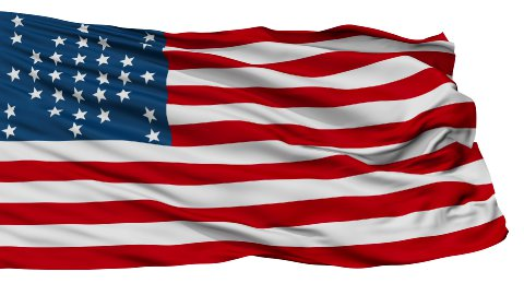 Fort Sumter USA Isolated Waving Flag - stock footage