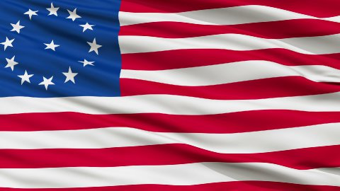 Cowpens USA Close Up Waving Flag - stock footage