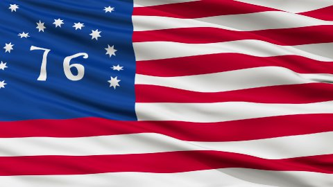Bennington USA Close Up Waving Flag - stock footage