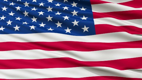 USA Close Up Waving Flag - stock footage