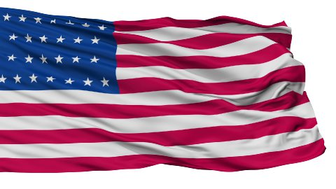 26 Stars USA Isolated Waving Flag - stock footage