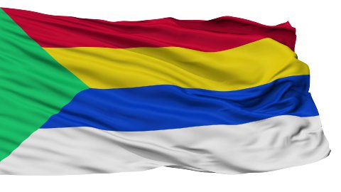 Druze Religious Isolated Waving Flag - stock footage