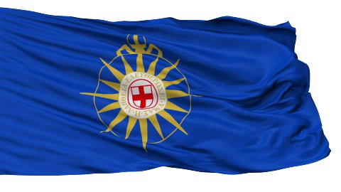 Anglican Communion Religious Isolated Waving Flag - stock footage