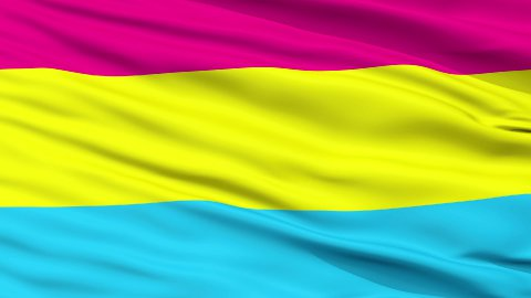 Pansexual Pride Close Up Waving Flag - stock footage