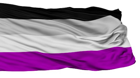 Asexual Close Up Waving Flag - stock footage