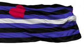 Leather Latex and BDSM Pride Light Close Up Waving Flag - motion graphic
