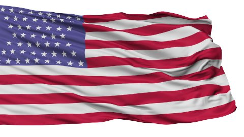 54 Stars USA Isolated Waving Flag - stock footage