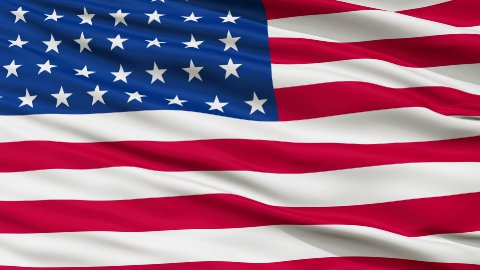 44 Stars USA Close Up Waving Flag - stock footage