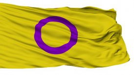 Intersex Close Up Waving Flag