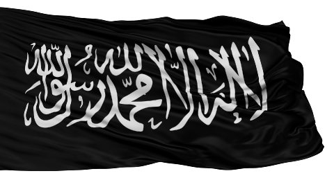 Jihad Religious Isolated Waving Flag - stock footage