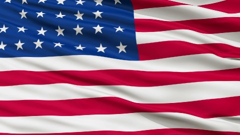 33 Stars USA Close Up Waving Flag - stock footage