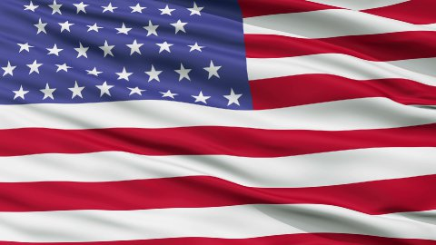 54 Stars USA Close Up Waving Flag - stock footage