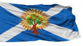 Church of Scotland Religious Isolated Waving Flag