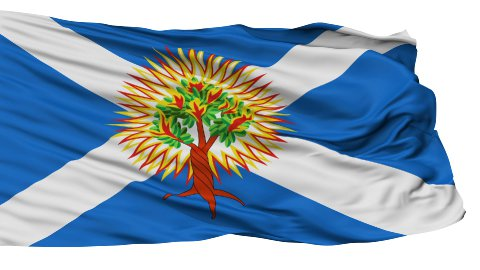 Church of Scotland Religious Isolated Waving Flag - stock footage