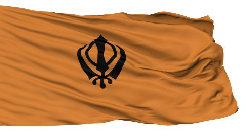 Khalistans Religious Isolated Waving Flag - stock footage