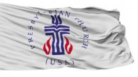 Presbyterian Religious Isolated Waving Flag